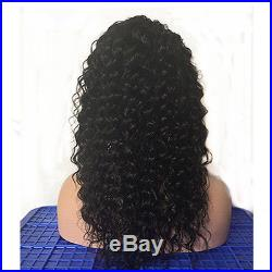100% Brazilian Human Hair Deep Curly Lace Front Full Wig With Baby Hair