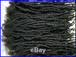 100% Human Hair Locks handmade Dreadlocks 100 pieces 6 black