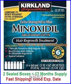 12 Months 5% Minoxidil Extral Strength For Men Hair Regrowth Treatment Kirkland