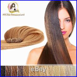 18 100% Indian Remy Weft Hair Extensions #613a Light ash blonde Double Drawn