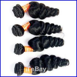200G/4 Bundles Brazilian Human Hair Weave Weft Virgin Loose Wave Hair Product