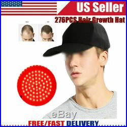 276PCS Portable Laser Hair Growth Cap Hat Cleared Hair Loss Therapy