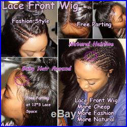 44 Silk Top Full Lace Human Hair Wig Pre Plucked Wavy Peruvian Lace Front Wig s