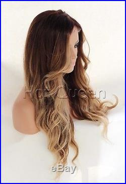 6A 100% Brazilian Human Hair wigs Remy Long Ombre Brown Lace Front/Full Lace wig