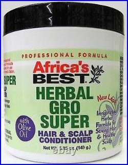 Africa's Best Herbal Gro Super Hair & scalp conditioner 5.25oz 149g + Free P&P