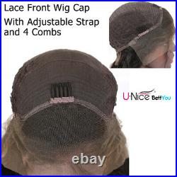 Afro Kinky Curly Wig Human Hair Ponytail Glueless Lace Front Wig PrePlucked 10