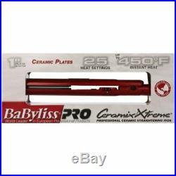 BaBylissPRO 1''Ceramix Xtreme Straightening Ceramic Plate Red Flat Iron BAB9555X