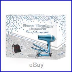 BaByliss PRO Nano Titanium Hair Dryer, Flat Iron, Curling Iron Set