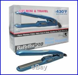 BaByliss Pro Nano Titanium #1/2 Mini Flat Iron (110V 240V) Travel size 430°F