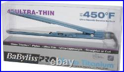 BaByliss Pro Nano Titanium Flat Iron 1.5 Ultra Thin Hair Straightener BNT3073C