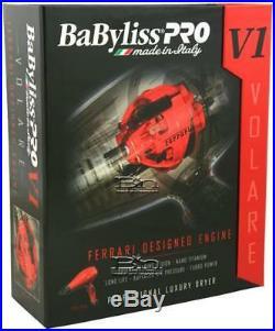 Babfrv1 Babyliss Pro Nano Titanium Volare V1 Dryer Ferrari-designed Engine Red