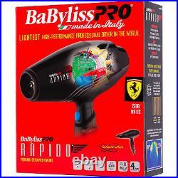 Babyliss Pro 2000W BF7000 Rapido Ferrari Designed Hair Dryer BABF7000
