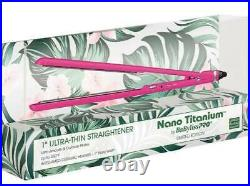 Babyliss Pro Nano Titanium 1 Ultra Thin 450° Pink Flat Iron Hair Straightener
