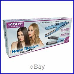 Babyliss Pro Nano Titanium Ultrasonic Cool Mist Iron + Omni Styler Flat Iron New