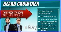 Beard Hair Growther Facial Mustache Growth Fast Grow Rich Texture Natural Oil
