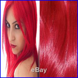 Beautiful Thick Full Head European Clip In Remy Human Hair Extensions Bright Red