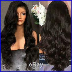 Black Loose Body Wave Brazilian Human Hair Full Wig Front Wig Pre Plucked