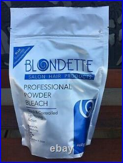 Blondette Salon Professional Powder Bleach blue dust-free 16 oz