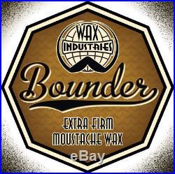 Bounder extra-firm moustache / mustache wax 10g tin