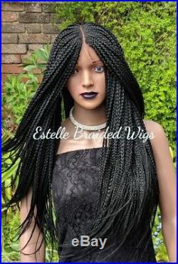 Box Braids Wig! Braided Wig, Lace Closure, Lightweight! 24-26