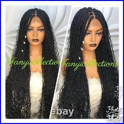 Braided WigBoho box braids Wig. Lace Frontal curly box braids wig. Location USA