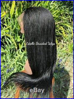 Braided Wig, 360 Round Lace, Lace Front, Micro Twists Braids, Million Braids