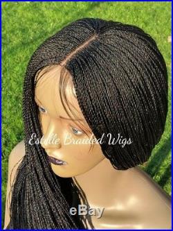 Braided Wig, Micro Twist Braids, Lace Closure, Million Braids Wig! 28