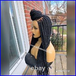 Braided wigs (medium box Braids Wig)
