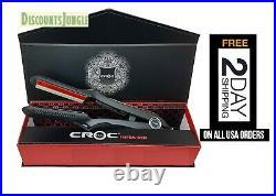 CROC INFRARED DIGITAL turboion CERAMIC flat iron hair straitening 1.5 1-1/2