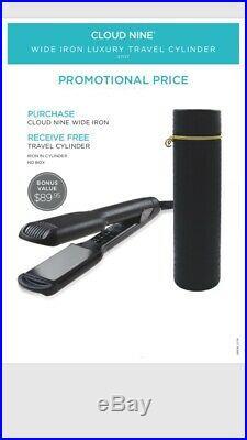 Cloud Nine Wide Hair Straightener PLUS FREE Cylinder Travel Case