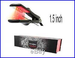 Croc TurboIon Infrared Digital Ceramic Flat Hair Iron Straightener 1.5