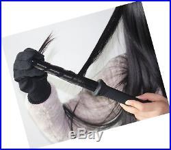 Curling Iron Wand BlueTop Professional Ceramic Hair Curler Crimper Crimping I