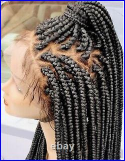 Custom Made box braid wig On 360 Lace Front Wig