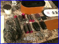 Dyson HS01 Airwrap Complete Styler Hair Styling Set, Coanda Air, Iron/Fuchsia