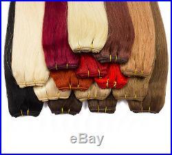 Echthaartresse Haartresse Echthaar Tresse Haarverlängerung ca. 60cm Glatt