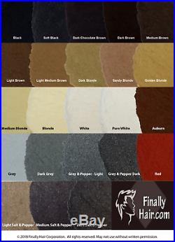 Finally Hair Building Fibers Black/Dark Brown/Medium Brown/Light Brown 456g 1lb