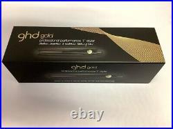 Ghd NEW GOLD 1 in Professional Styler Flat Iron Hair Straightener Black NIB