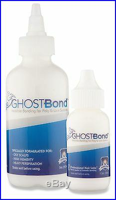 GhostBond XL white glue adhesive 1.3 oz lace wigs toupee hairpiece full bond