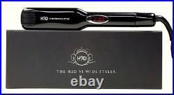 H2D Black Wide Infrared Hair Straightener Iron with Roll Mat Pouch 230ºC 42mm
