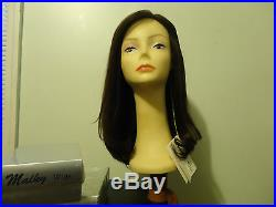 Human Hair Wig Sheitel Very Dark Browns color 6-2, New Malky 100% Kosher Remy