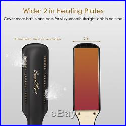 Iron Hair Straightener Flat Professional Titanium Ceramic Steam Vapor 2 Inch New