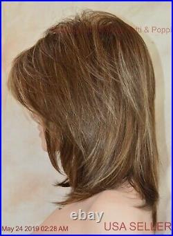 Jackson Noriko Wig Brown Medium Length Stunning Seductive Iced Mocha R