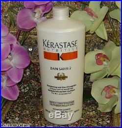 KERASTASE NUTRITIVE BAIN SATIN 2 FOR DRY HAIR, 1000ml or 34 oz NEW FRESH