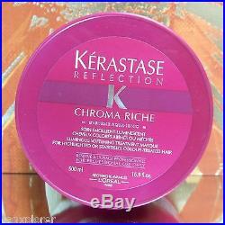 KERASTASE REFLECTION MASQUE CHROMA RICHE MASK 500ml HUGE FRESH, FAST SHIPPING