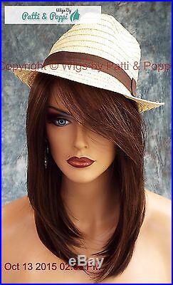 Laine Rene Of Paris Wig Coffee Latte Slinky Hot Medium Bob Side Bangs 523