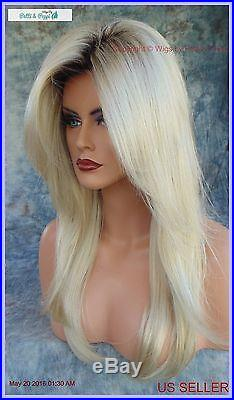 Long Rooted Blond Designer Wig Soft Flowing Blond Bombshell Heads Will Turn