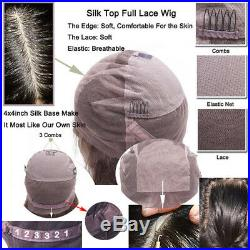 Loose Body Wave 8A Brazilian Human Hair Wig Full Lace Front Wigs Pre Plucked Sss