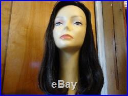 Malky Sheitel Human Hair Wig Darkest Brown color 6-2, New Malky 100% Kosher Remy