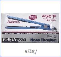 NEW! Babyliss PRO Nano Titanium 1.25 Digital Ionic 1 1/4 Flat Iron Straightener