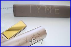 NEW TYME Iron 2 in 1 Hair Straightening Curling Gold Plated Titanium FREE SHIP